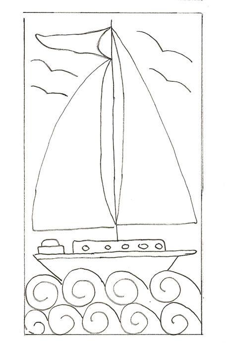 sail boat punch needle | punch needle, locker hooking, etc ...