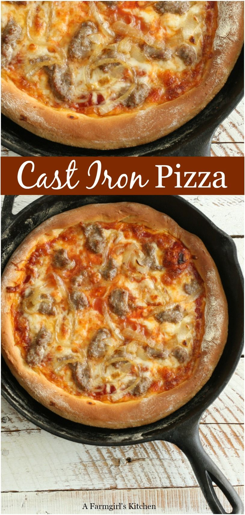 Photo of Homemade Cast Iron Skillet Pizza | A Farmgirl's Kitchen