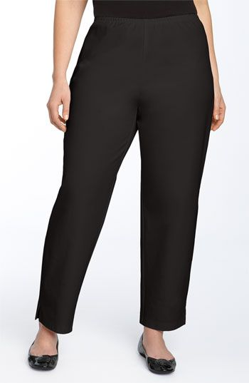 16c156ddec6c4d Eileen Fisher Stretch Organic Cotton Ankle Pants (Plus Size) available at  #Nordstrom