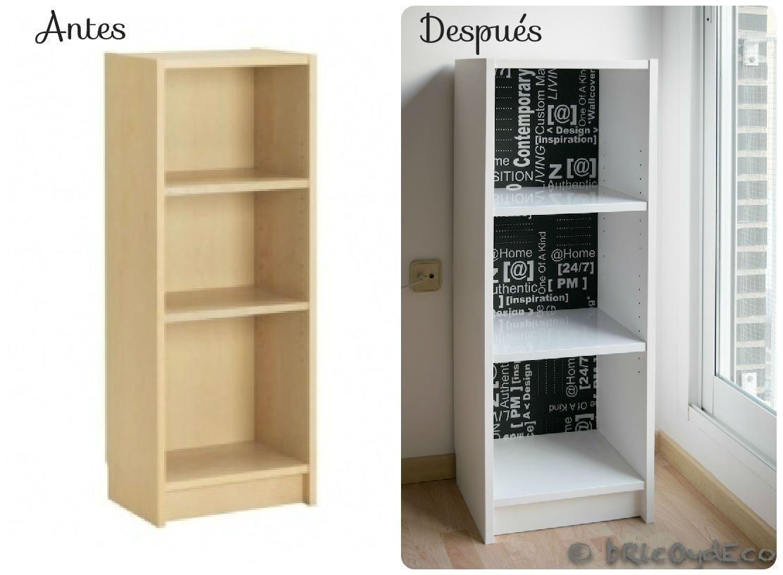 Antes y despu s de una librer a billy de ikea http www for Mueble libreria ikea