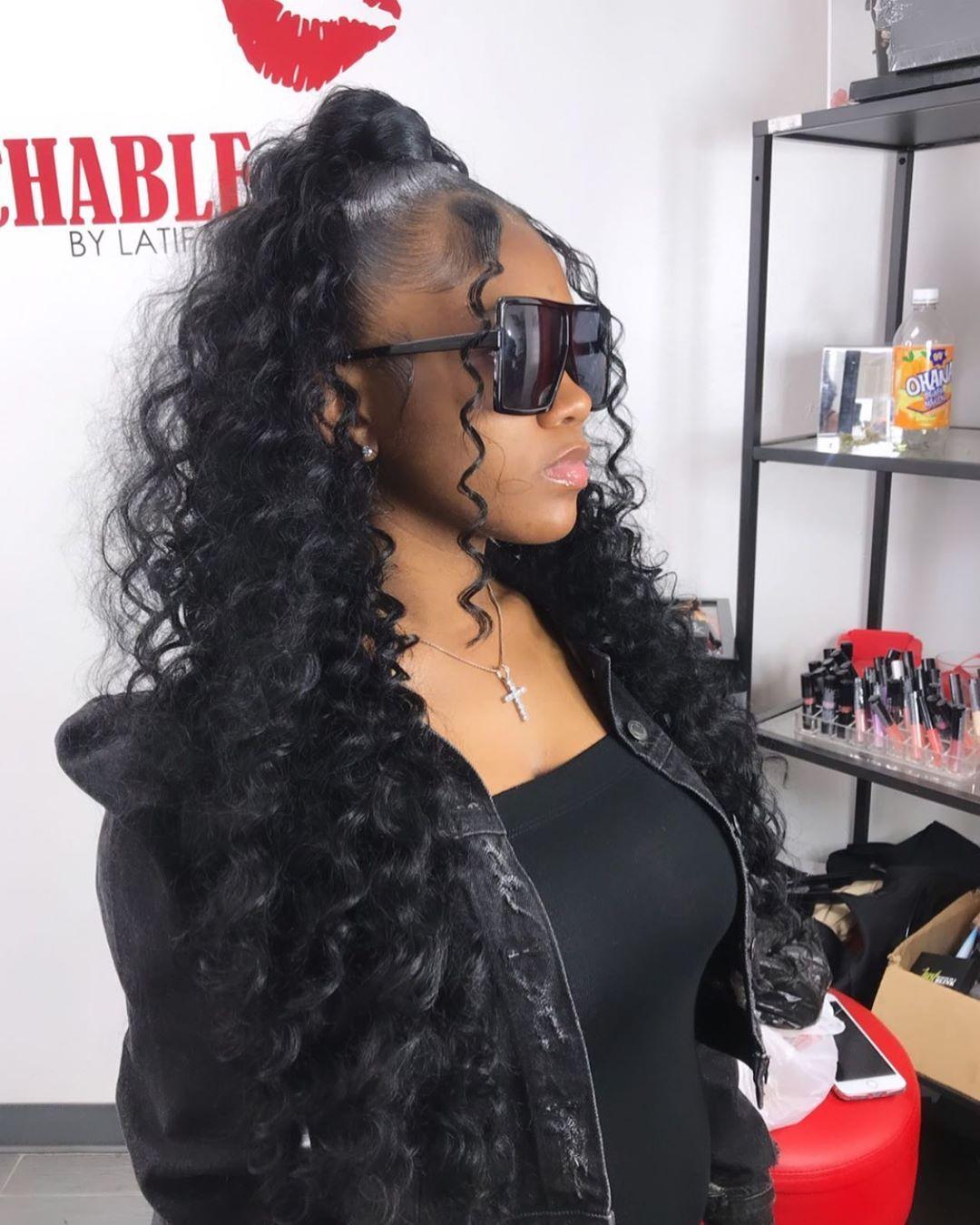 Pin by 🧧Purrrući🩸💸🏎 on hair   Hair ponytail styles, Ponytail ...