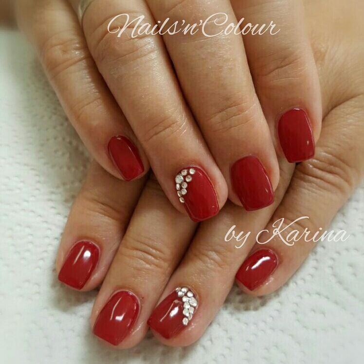 Nageldesign Rot Fullcover Rote Nagel Elegante Nails Funkeln