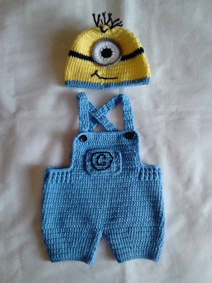 01fa7299939b0 Feito no tamanho desejado. Minion Crochet Patterns
