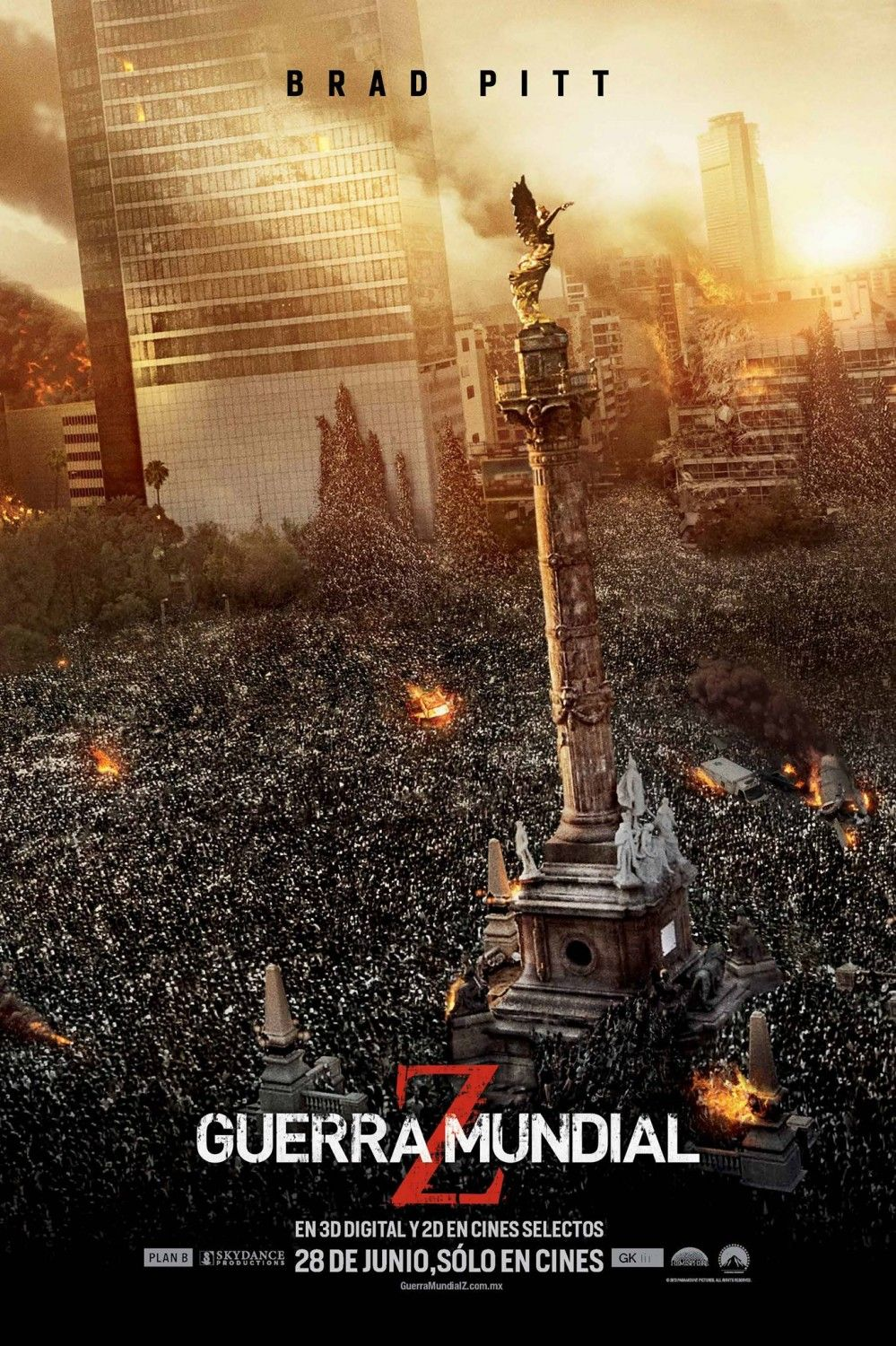 Mexico Infected With World War Z Zombie Horde Movie Posters Internet Movies World War