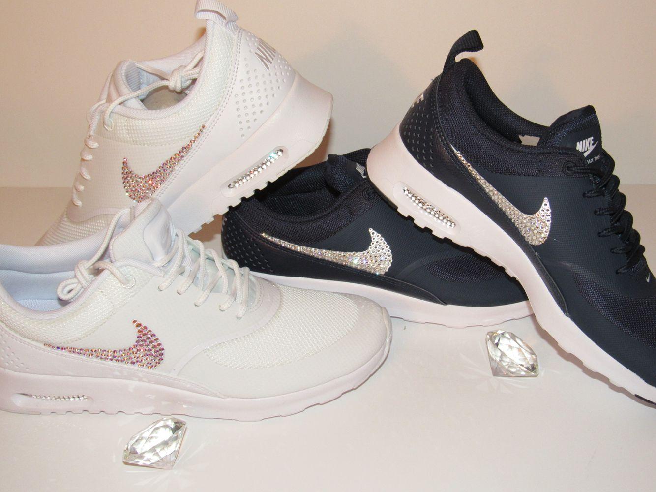 Custom Nike Air Max Thea with Swarovski Crystals