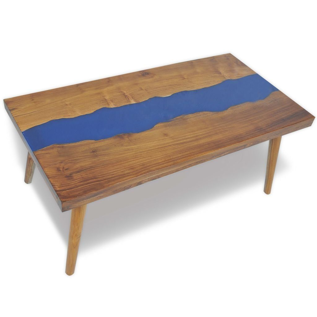 Vidaxl Solid Teak Coffee Table W Resin Inlay Living Room Side End Furniture Click Image To Review More D Coffee Table Coffee Table Vintage Teak Coffee Table