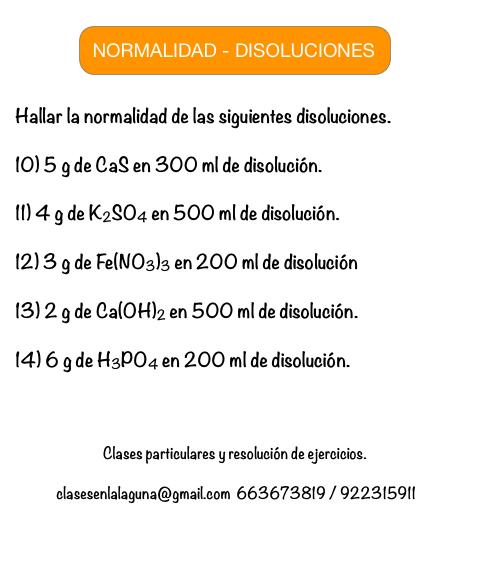 Ejercicios 10 14 Propuestos De Normalidad Disoluciones