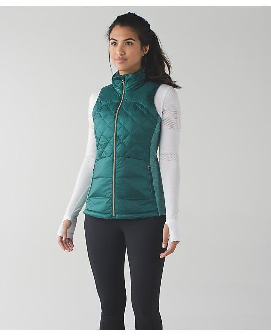 0dfcded1 Lululemon forage teal down for a run vest just in at Swap BR! Size 4 $49.99!