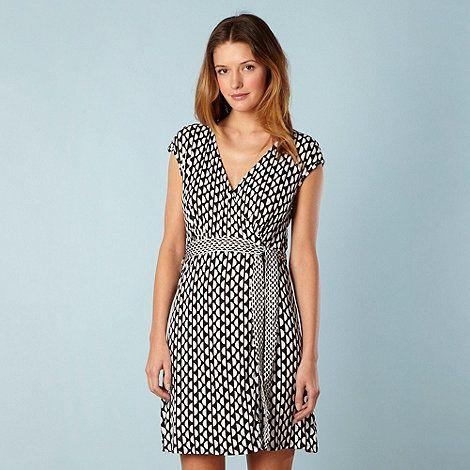 Principles By Ben De Lisi Designer Black Semi Circles Wrap Dress At Debenhams Com Dresses Fashion Dresses For Work