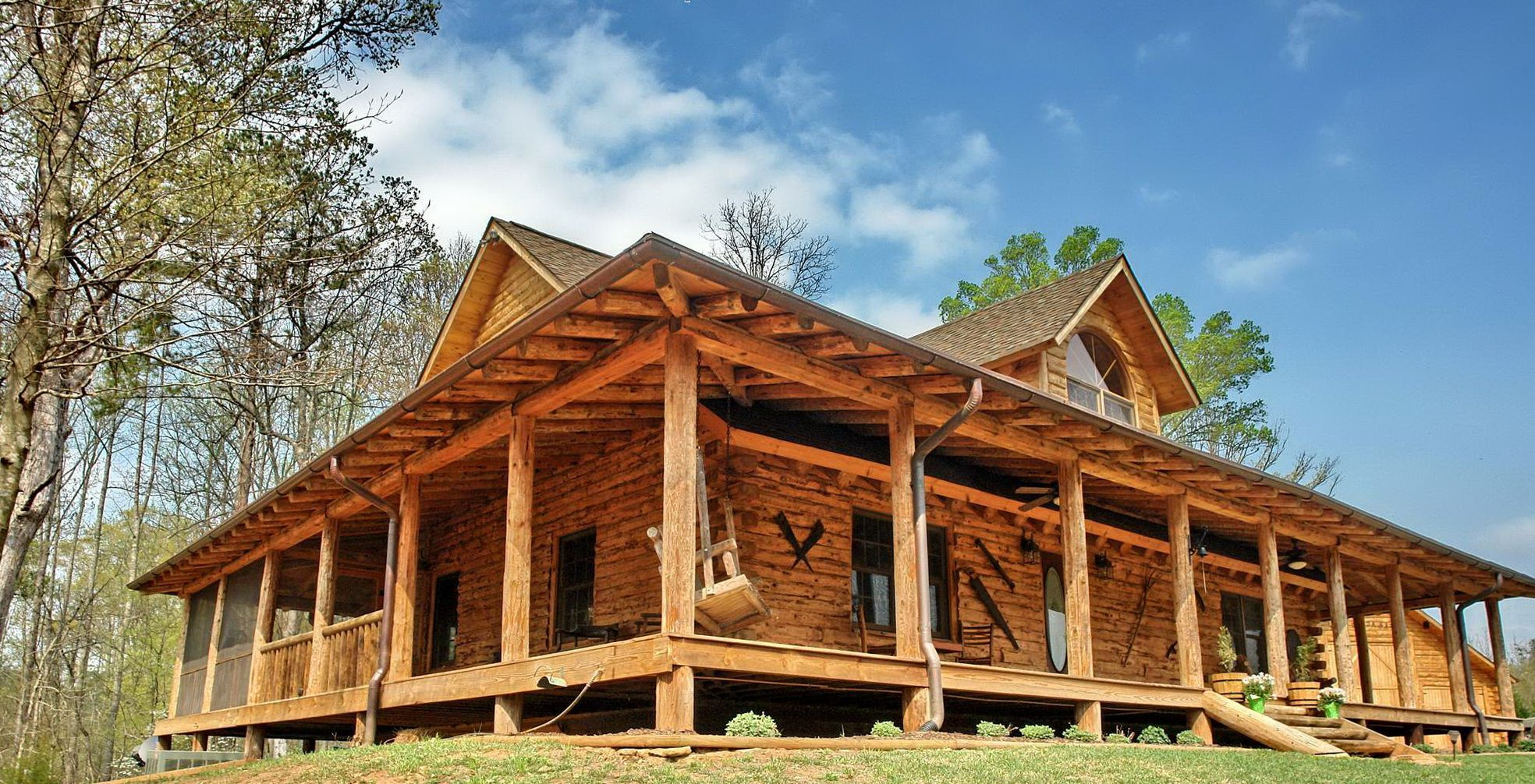 House · Cabin With Wrap Around Porch Plans | Home Design Ideas · Log Cabin  Floor ...