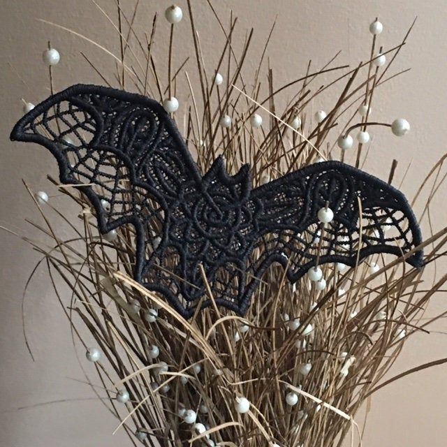 Photo of Halloween Gothic Black Bat, Lace Bat Ornament, Witchcraft, Halloween Decor, Gothic Christmas Ornament