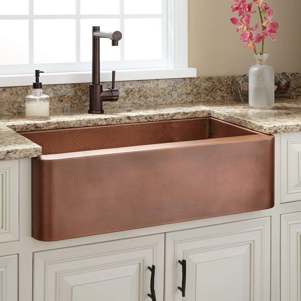 The Raina Copper Farmhouse Sink makes a