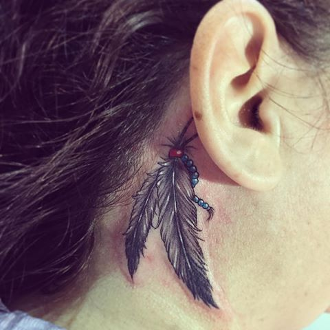 Image Result For Amazing Behind The Ear Feather Tattoo Behind Ear Tattoos Feather Tattoo Behind Ear Ear Tattoo