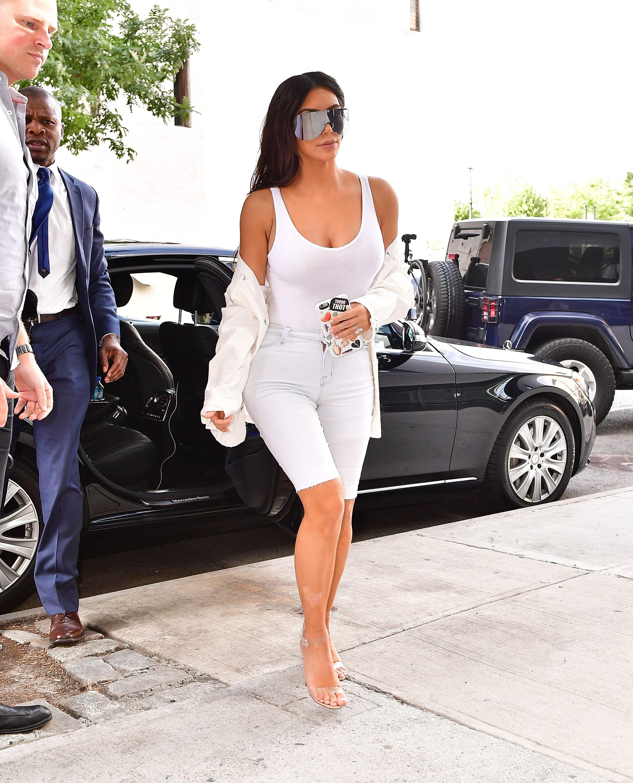 Best Looks Kim Kardashian White Jean Shorts White Jeans And September
