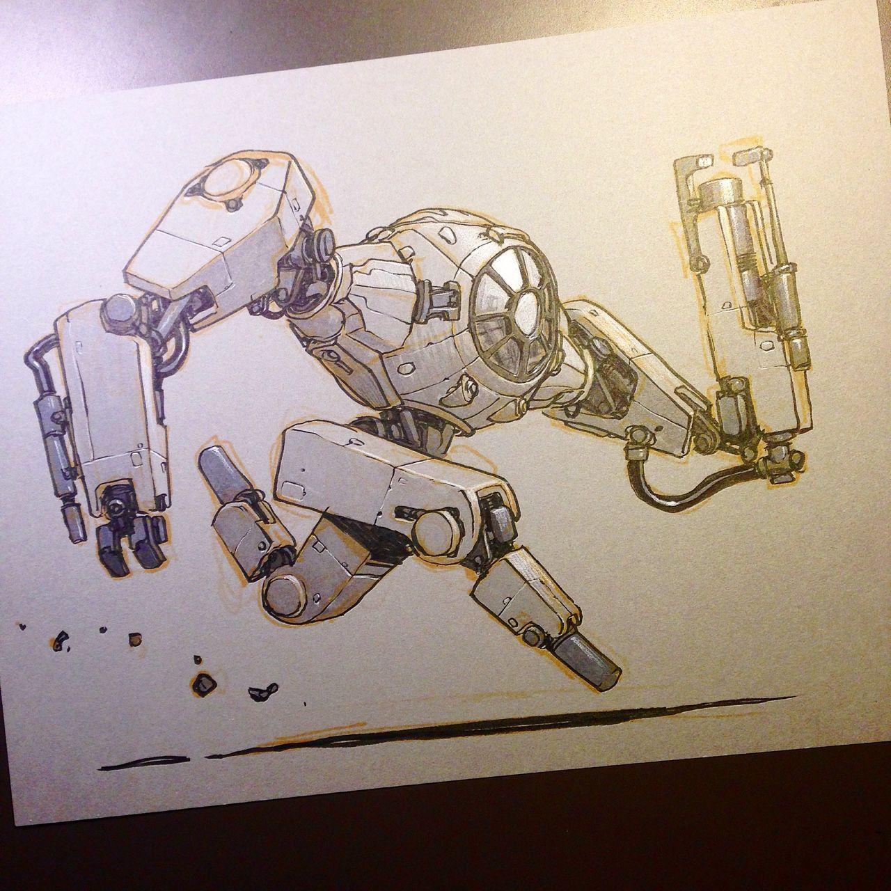 MR  JAKE PARKER | Sketches in 2019 | Robot concept art