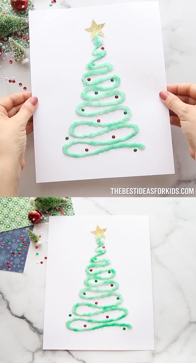 Salt Painted Christmas Trees 🎄