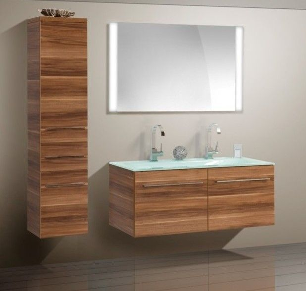 Incroyable Double Sink Modern Bathroom Cabinet With Different Color Finish   Modern   Bathroom  Vanities And Sink Consoles   Other Metro   Bathroom Vani.