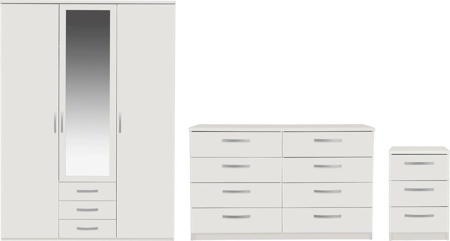Argos Home Hallingford 7-piece 7-door wardrobe set – white in 7