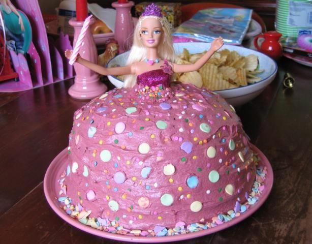 Enjoyable Barbie Birthday Cake Recipe With Images Cool Birthday Cakes Funny Birthday Cards Online Alyptdamsfinfo