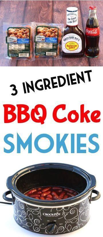 BBQ Coke Little Smokies! (3 Ingredient Crock Pot Recipe!) (DIY Thrill) | Smokies recipe, Little