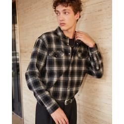 Photo of The Kooples – Black and white flannel checked shirt – Damenthekooples.com