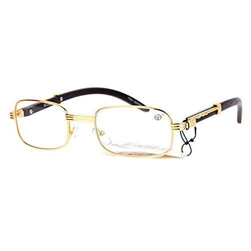 be877e9962 Oval Wood Buffs Unisex clear glasses Oval UV400 Lenses and Gold frame RICH