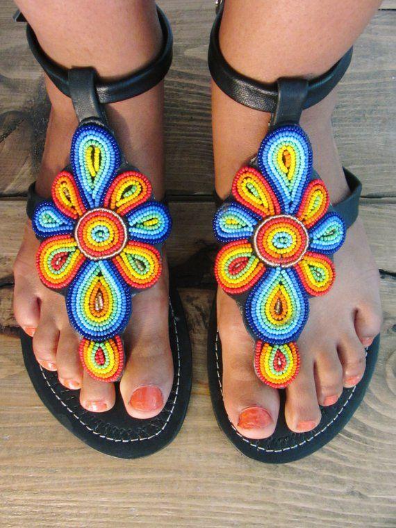 Sandale Et Les AfricaineWax SandalesChaussure La Dessous De ZO8XnP0wkN