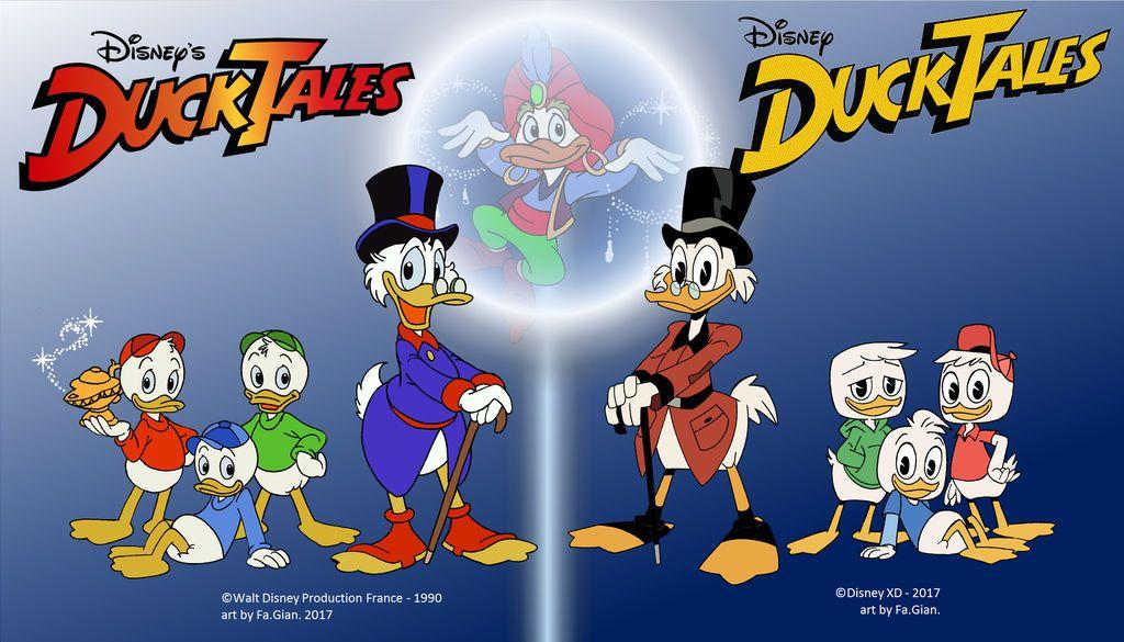 Ducktales 1990 Vs 2017 By Fagian On Deviantart Disney Cartoon