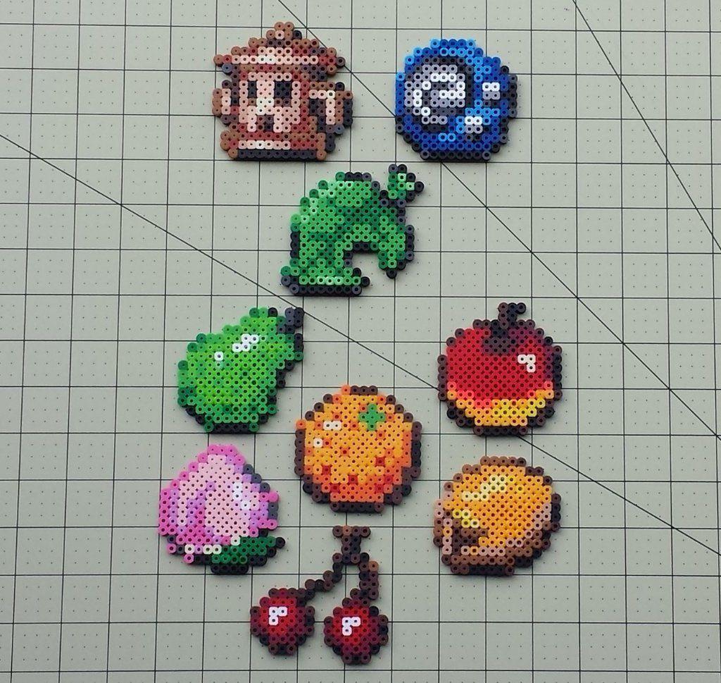 Items And Fruit Animal Crossing Sprites Diy Perler Beads Bead Sprite Pearler Bead Patterns