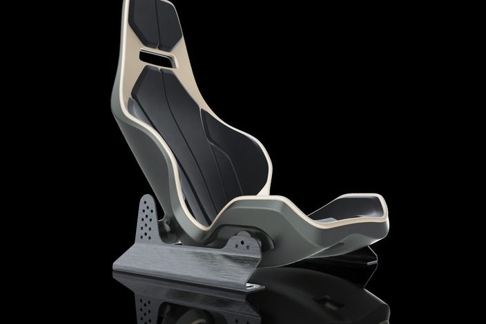 Seat 002 with rails - Rhino, STEP / IGES, SOLIDWORKS - 3D