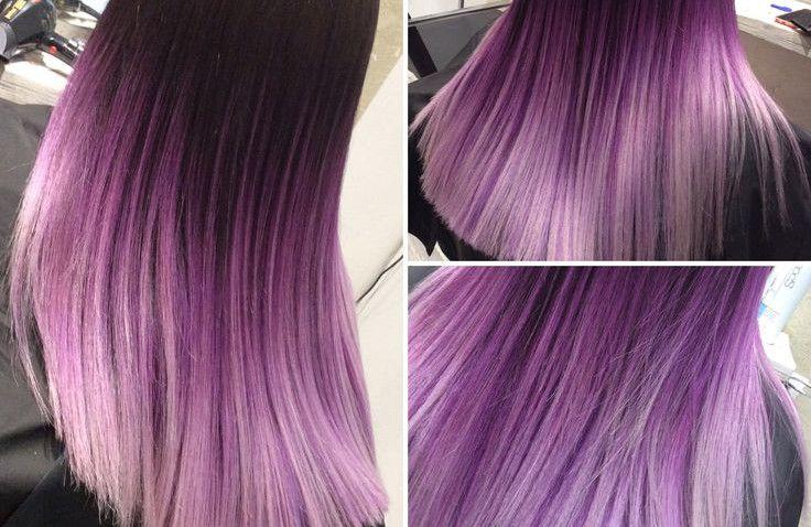 shatush viola: su capelli castani, neri e biondi come fare lo