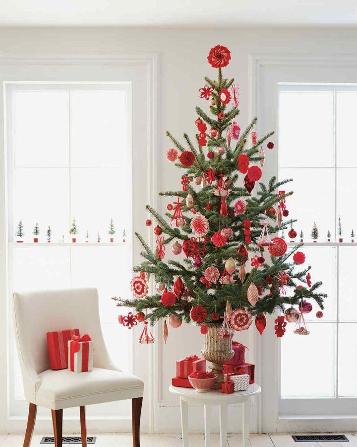 Arboles de navidad decorados seleccionando el estilo perfecto
