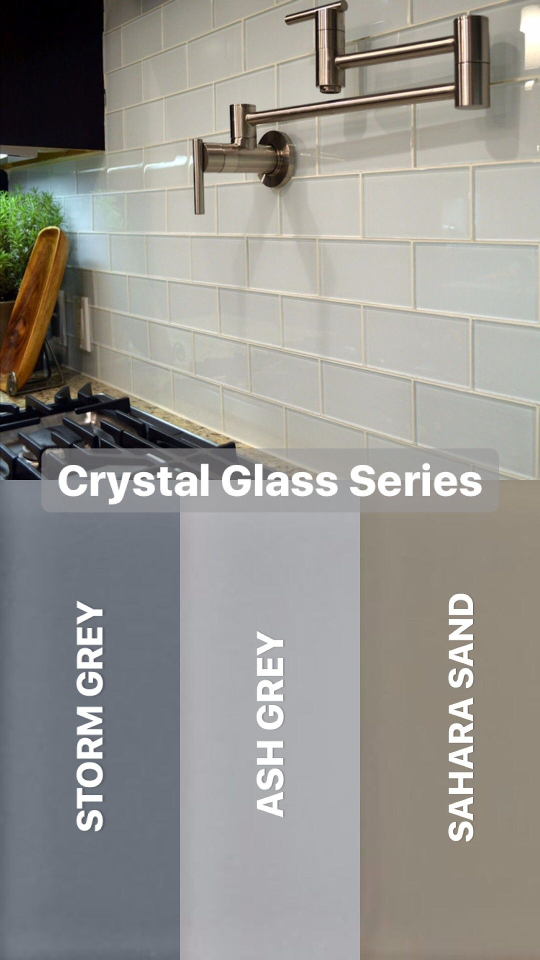 Myrtc Idea Gallery Glass Subway Tile Backsplash Crystal Glass