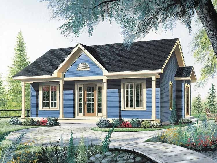 Cottage Style House Plan 2 Beds 1 Baths 910 Sq Ft Plan 23 512 Cottage Style House Plans Craftsman House Plans Cottage House Plans