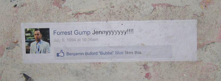 Forrest Gump on facebook