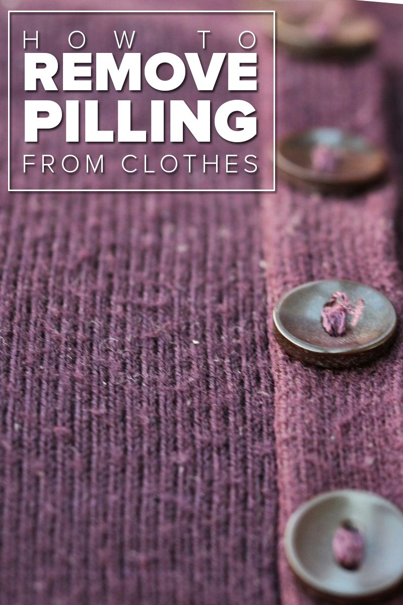 how to get rid of pilling