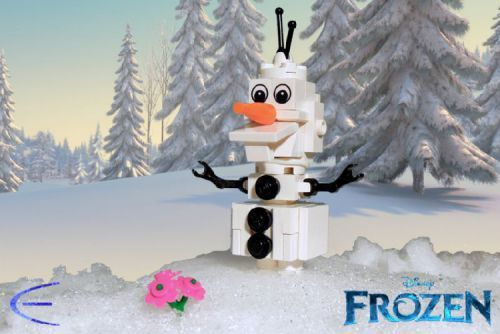LEGO Olaf (from Disney's Frozen): A LEGO® creation by Cole Edmonson : MOCpages.com