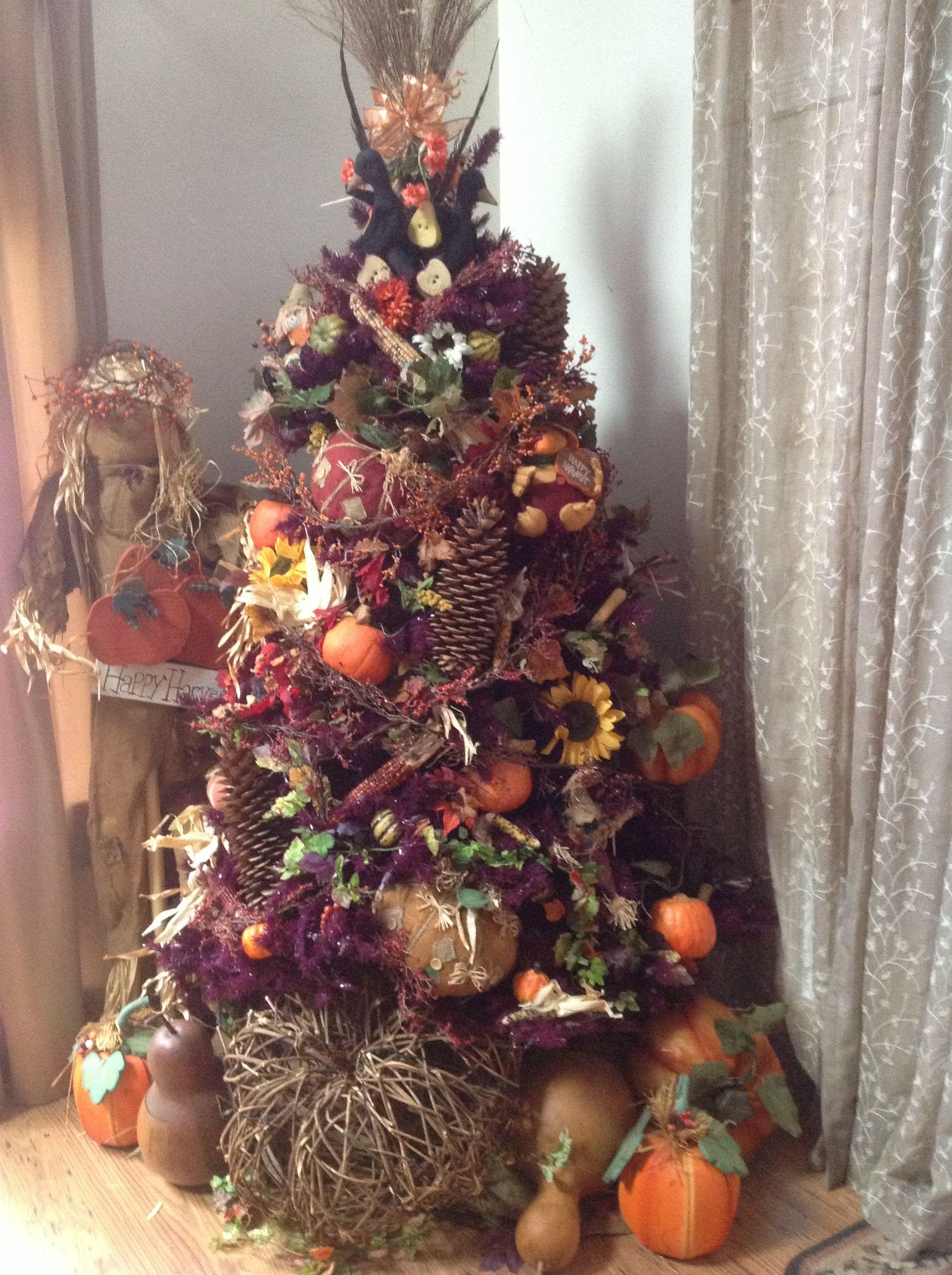 Harvest Tree Fall Christmas Tree Thanksgiving Decorations Diy Unique Christmas Trees