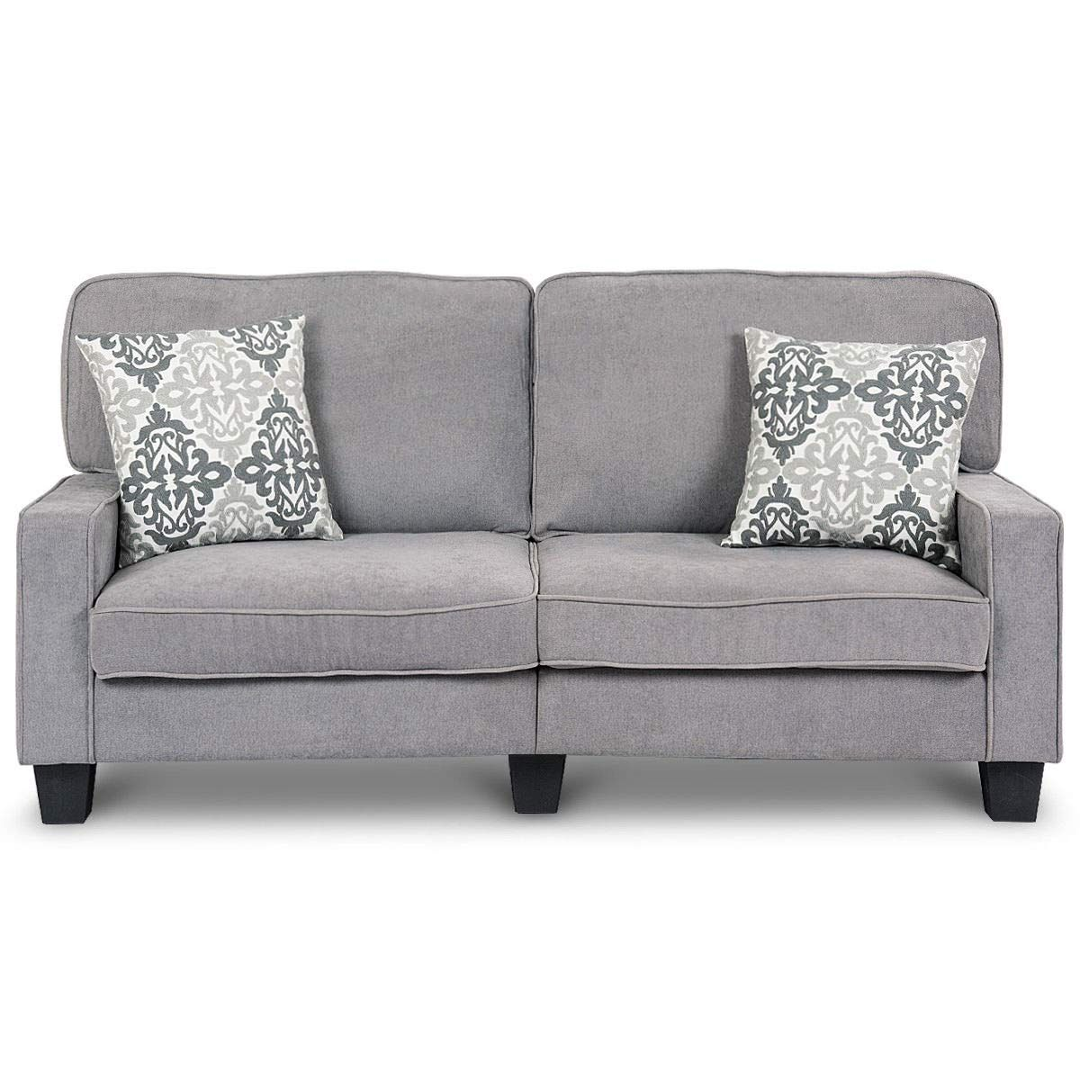 Giantex Tv Futon Sofa Couch Loveseat Fabric Upholstered Removable