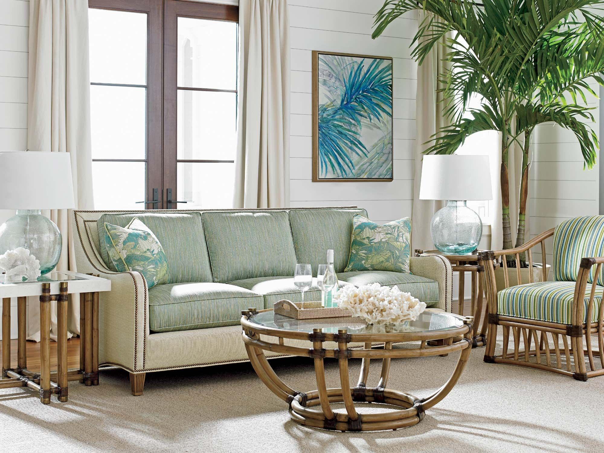 tommy bahama beach chair uk dining set of 6 twin palms koko sofa in white green home