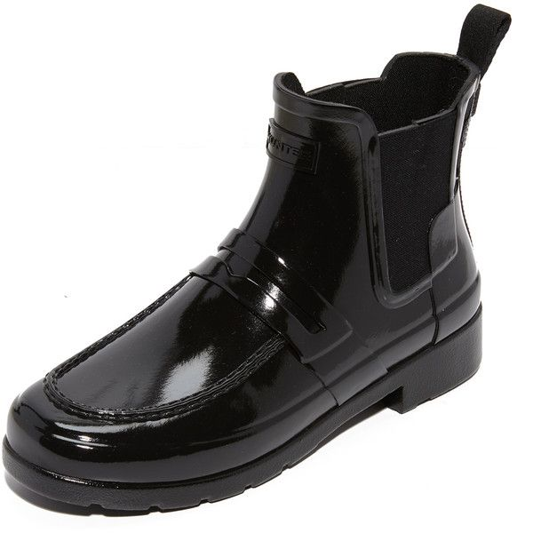 313fa7c51f3 Hunter Boots Original Refined Penny Loafer Booties ( 145) ❤ liked on  Polyvore featuring shoes