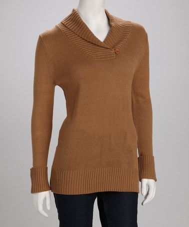 Take a look at this Surf Tan Ella Sweater by george & martha on #zulily today! @Kathie Dixon..this would look really good on you!!