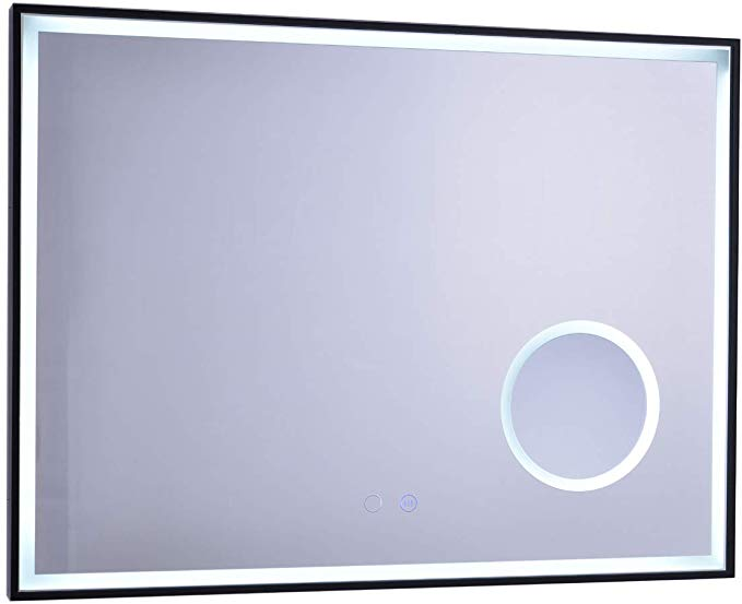 Amazon Com Anpean 32x24 Inch Led Lighted Bathroom Wall Mounted Mirror With 3x Magnification Wall Mounted Mirror Backlit Bathroom Mirror Lighted Wall Mirror