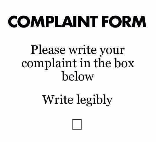 Complaint Form  Funny    Random Stuff