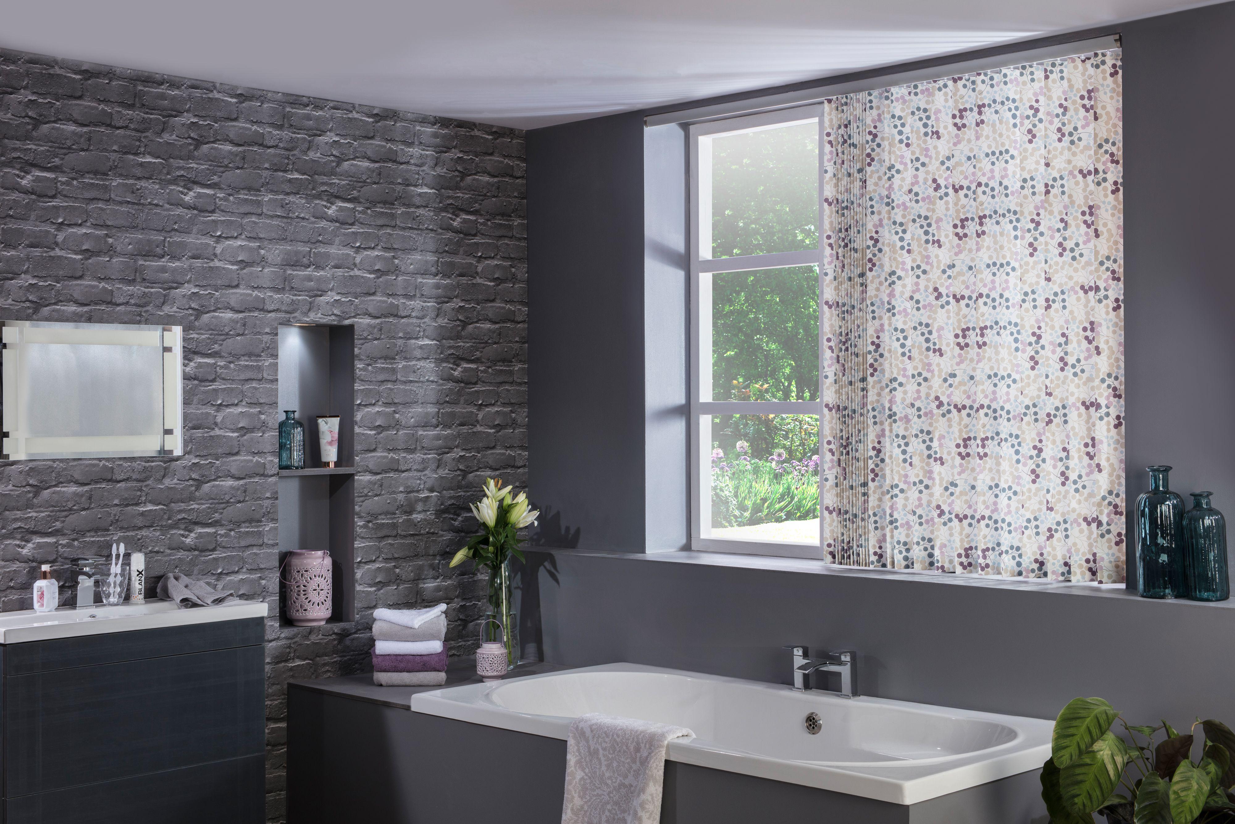Burst grape vertical modern bathroom blinds from Style ...