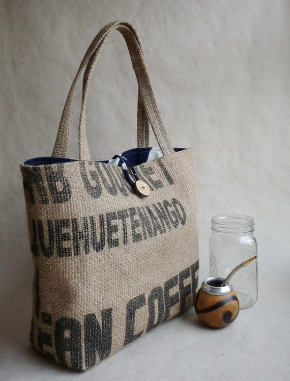 2805bf95a Upcycled tote. 5thseason $52 | Bags I cant live w/out them | Burlap ...