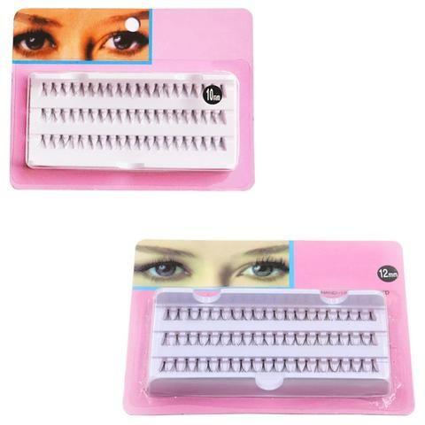 fc5aeb7e062 New Women Lady Makeup 60 Individual Black False Eyelash Cluster Eye Lashes  Extension Tools