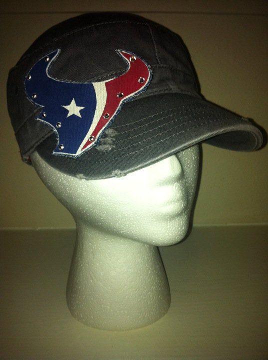 Houston Texans Cadet Hat. $30.00, via Etsy.