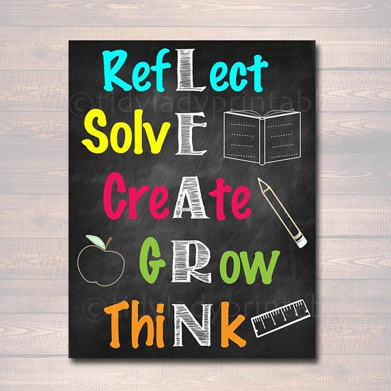 Learn Acronym Poster Growth Mindset