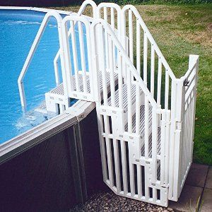 step it up best above ground pool steps - Above Ground Pool Steps For Handicap